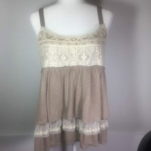American Eagle Outfitters Lace Boho Style Cami L